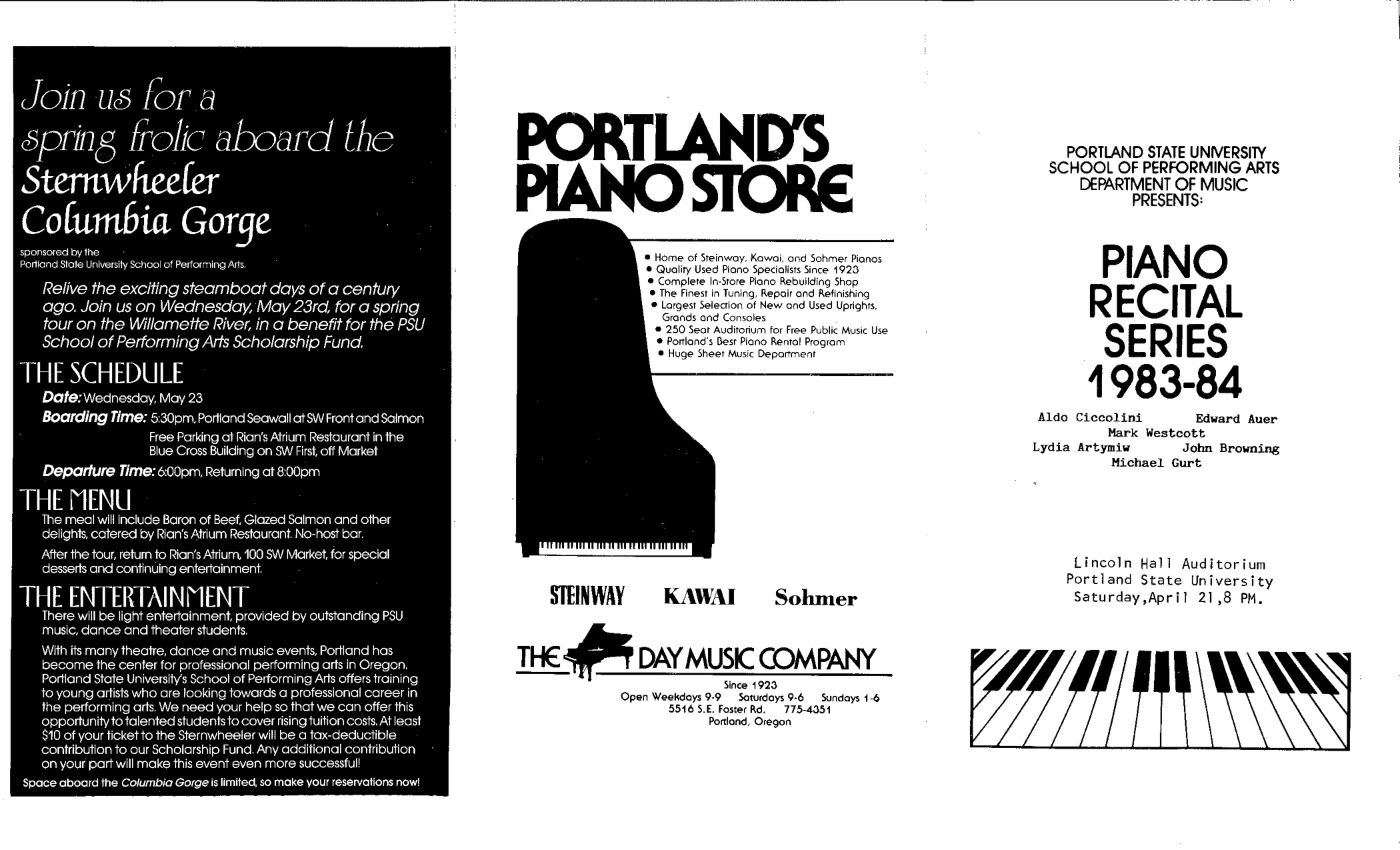 Gurt Program — Portland Piano International