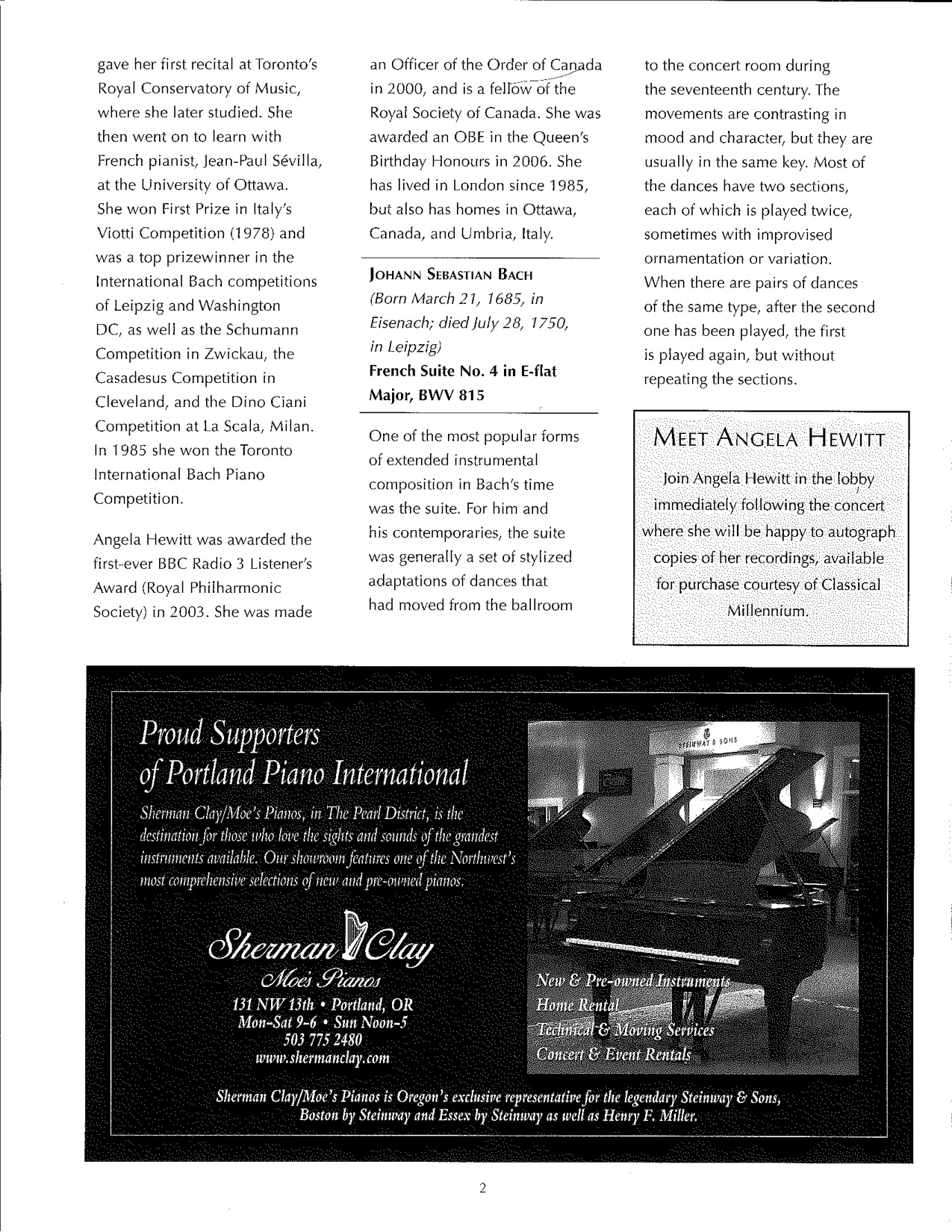 Hewitt Program — Portland Piano International