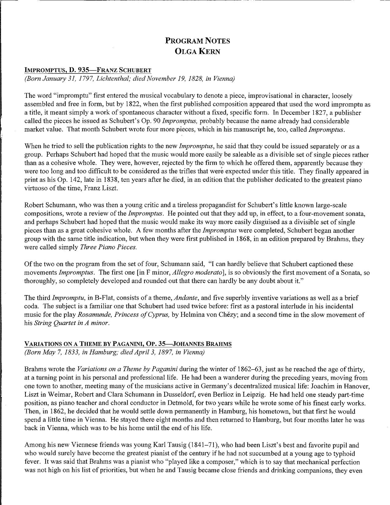 Kern Program — Portland Piano International