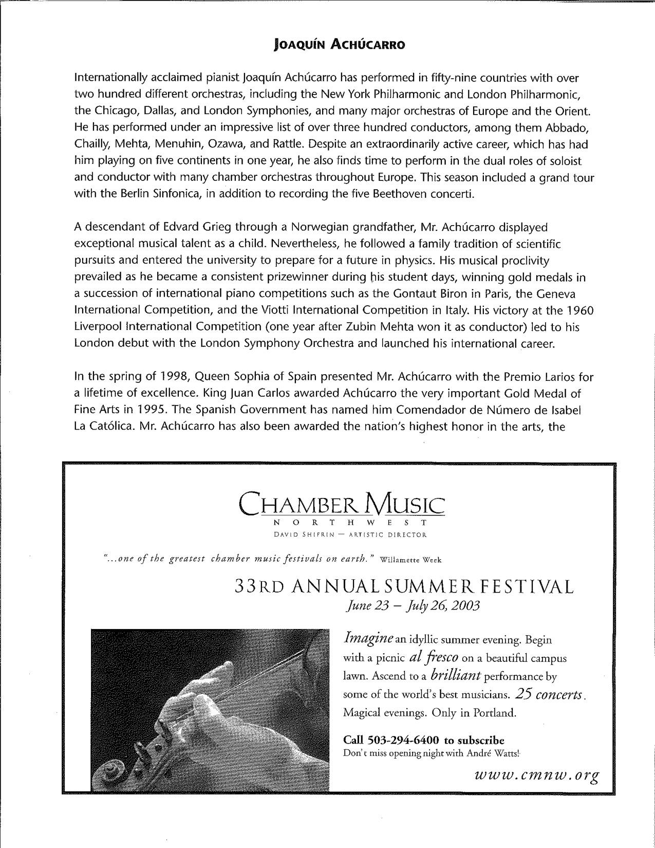 Achucarro Program — Portland Piano International