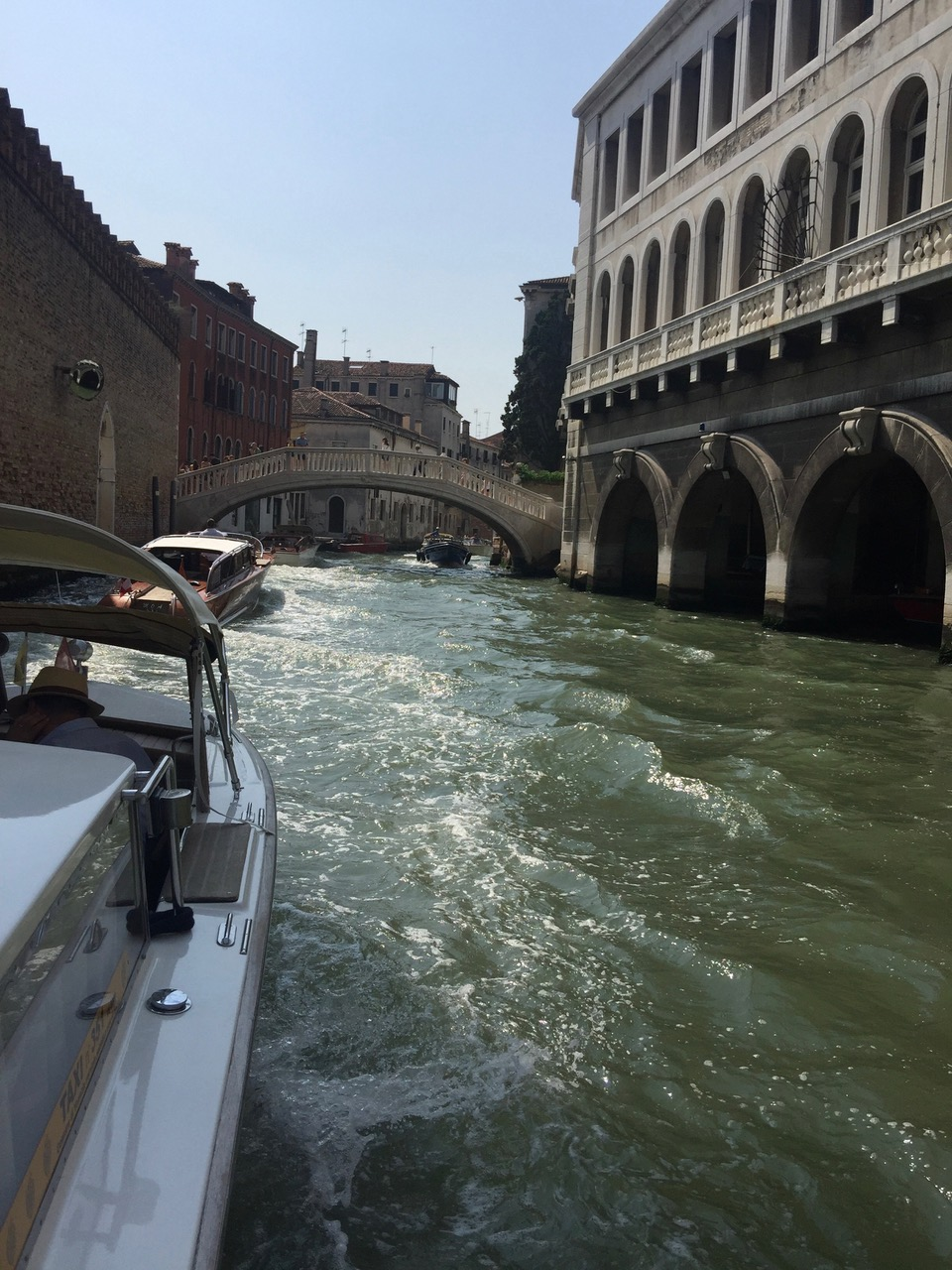 A view from the private watertax along the Grand Canal