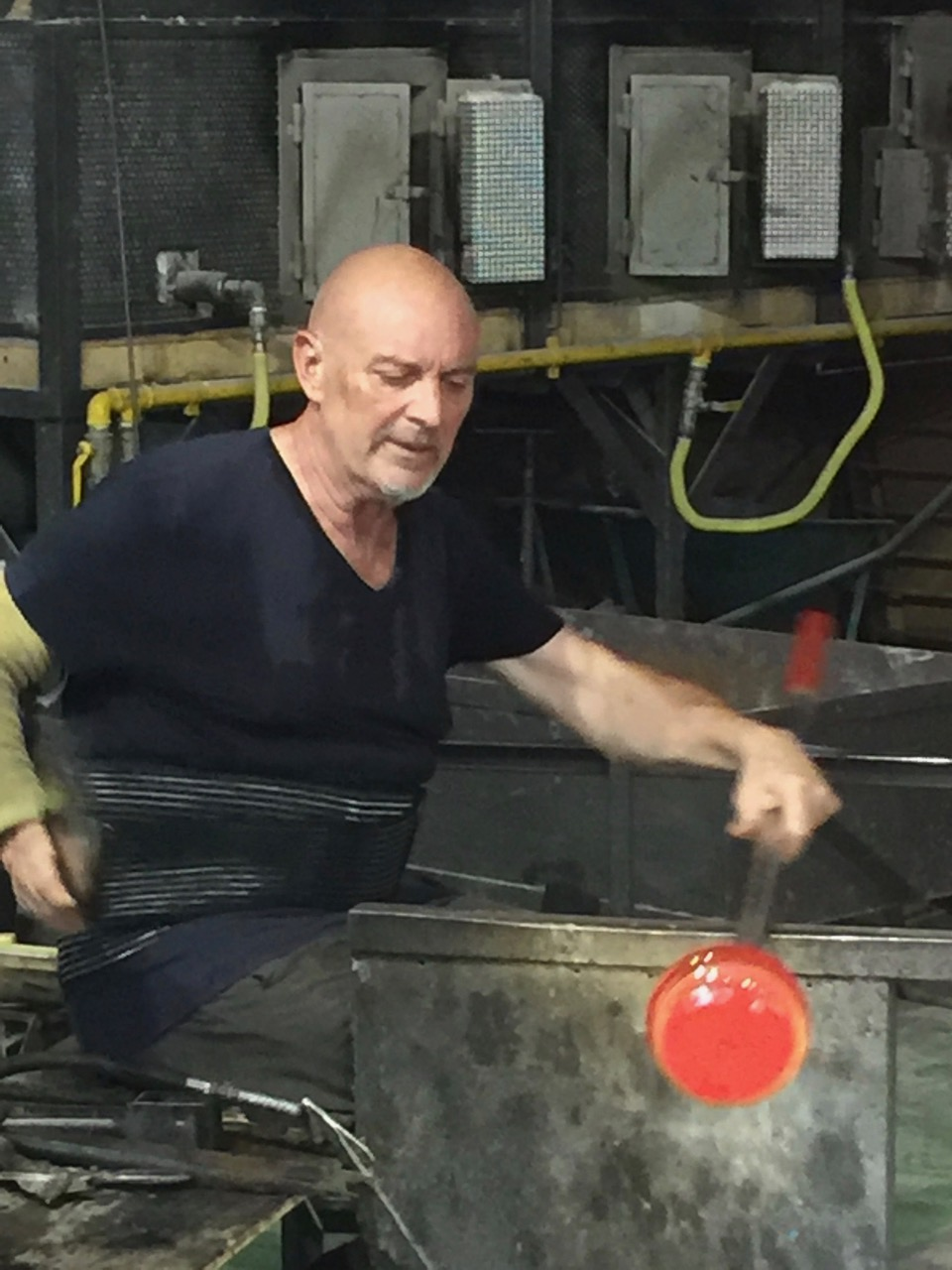 Glass blowing on Murano