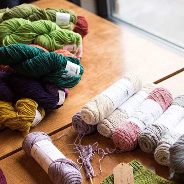 Always nice to visit @spunannarbor for a rainy day project!  #knitting #yarn #a2 #kerrytown #annarbor #visitannarbor #shopsmall #shopping #smallbusiness #local