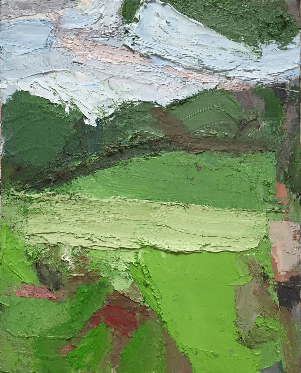 Dog Hill Central Park 2, 2014-15, Oil on linen, 24 x 20 inches.