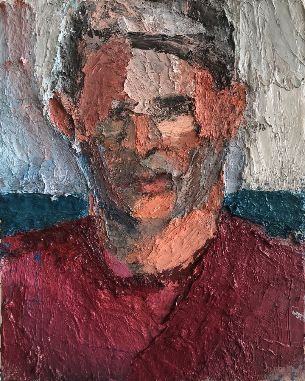 Evan, 2015-18, 20 x 16 inches, oil on linen