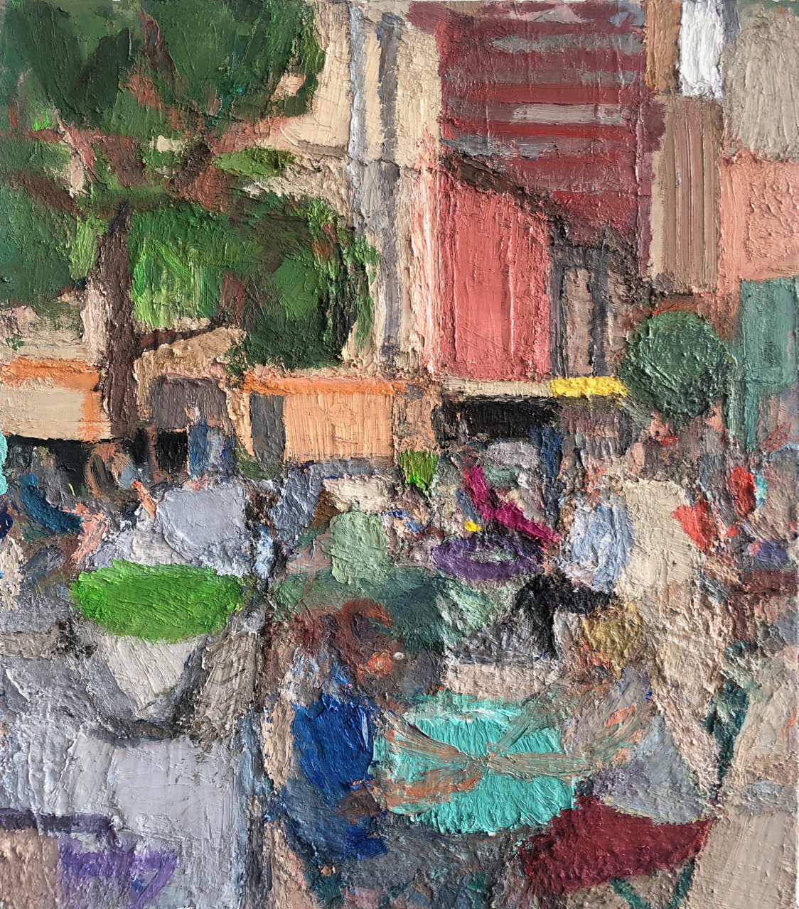 Tribeca 2, 2014-18, 54 x 42 inches, oil on linen