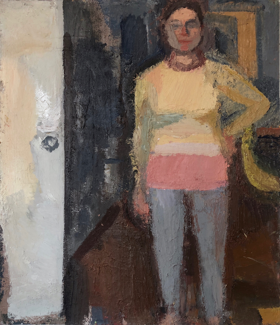 Standing Figure/Morning, 2016-18 , 58 x 50 inches, oil on canvas