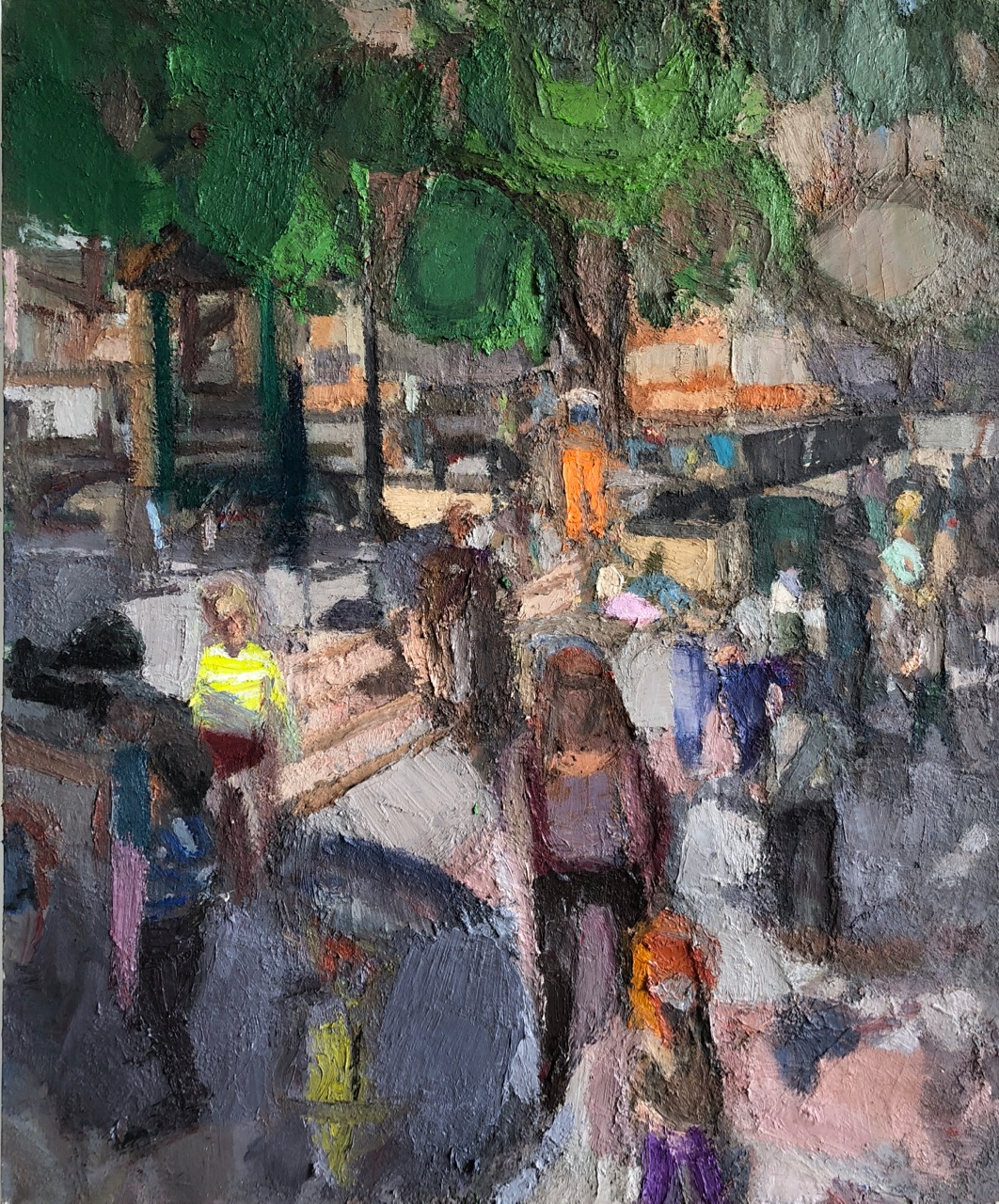Playground, 2012-18, 72 x 60 inches, oil on linen