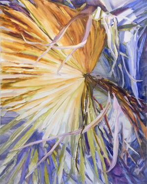 """Jannell Turner:Light Leaves - April 25—July 26, 2018Chashama1133 Avenue of Americas, NY, NYOpening reception:Thursday, April 26th, 6-8pmJannell Turner is interested in sublime encounters and the beauty of the botanical world. Her """"Light Leaves"""" series provides an entry point into abstract painting and metaphysical thinking about light as both a particle and a wave, integral yet transient in its path. Turner merges these paradoxical qualities —movement and stillness—with the botanical world.By leveraging recent scientific understanding of plants—heliotropic bending and electromagnetic sensing—Turner is able to imagine how plants """"see"""" in ways that humans cannot. The result is a shared experience of wonder and reverence towards life.Clickherefor exhibition images.Download PDF of catalog here."""
