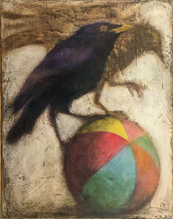 Crows on Ball