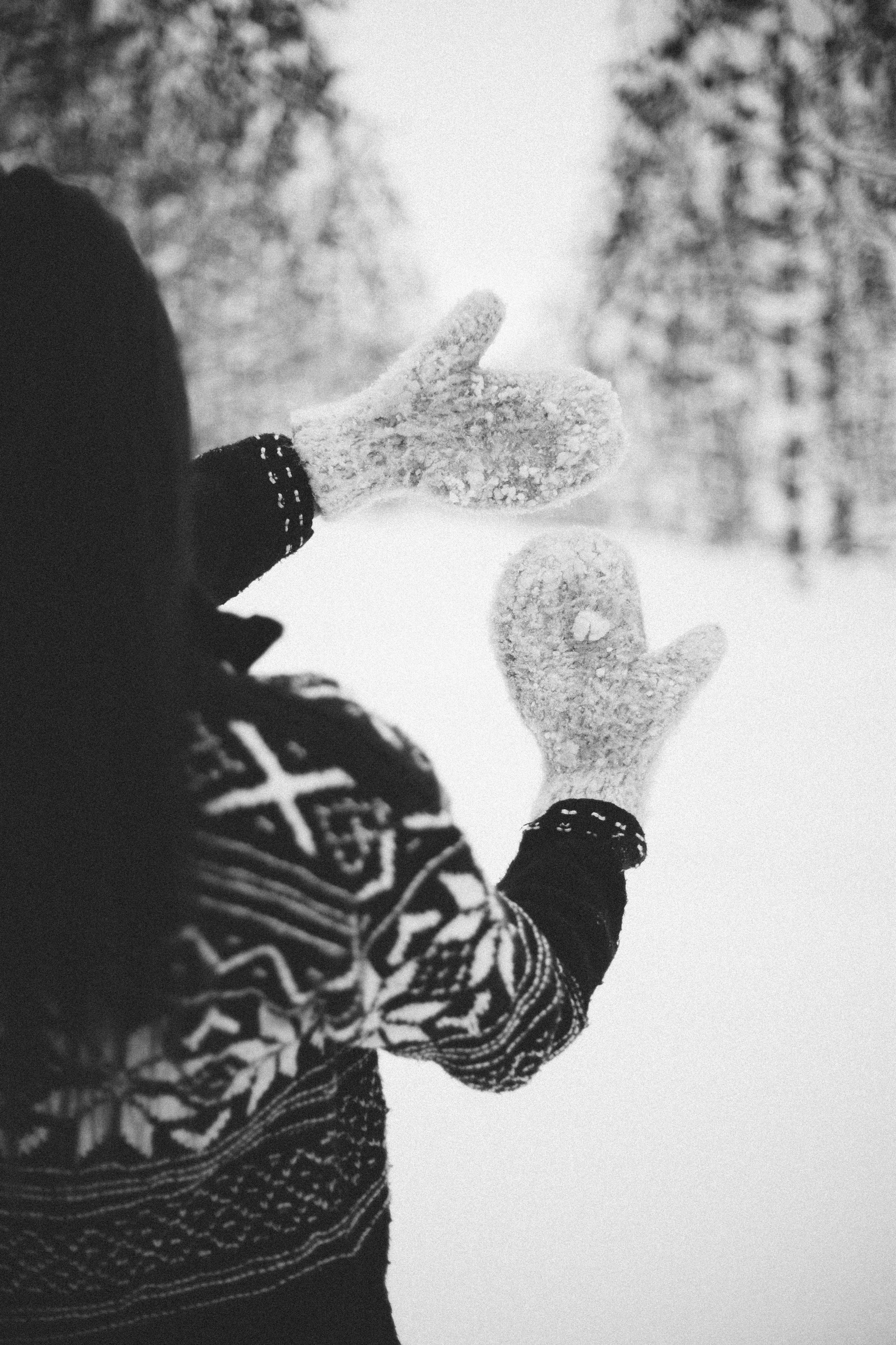 If you are from Michigan you will understand this photo! I love that she is using actual mittens :)