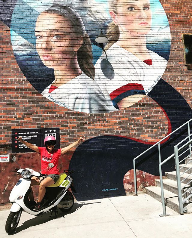 Congrats to @uswnt!  @scootoursdenver thanks you all for setting a great example for all of our girls!  Our Colorado girls made us proud!  @lindseyhoran10  @malpugh @rinoartdistrict @impropercity @mnapolitanoart @ussoccer #ibelievethatwewillwin #usa #soccer #cuteronascooter #denvergraffiti