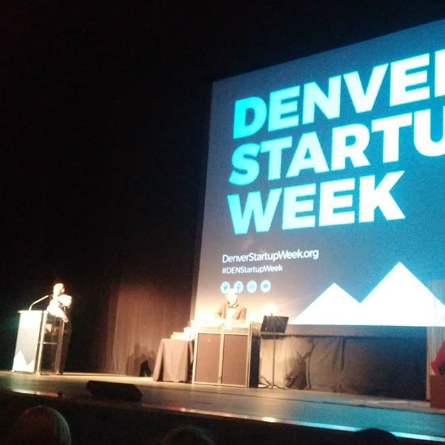 Kicking off Denver Startup Week #denstartupweek with @mayorhancock and @tamidoor. Soon to hear from @theskimm women too.