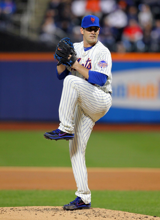 Matt Harvey takes a mindful breath before throwing the ball.