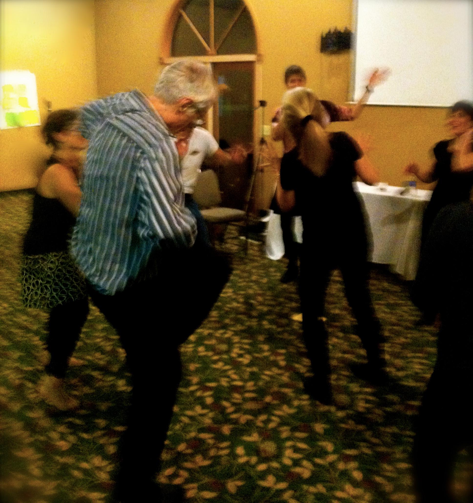 "Gene ""Wild Man"" Marshall, 81, out-dancing everyone."