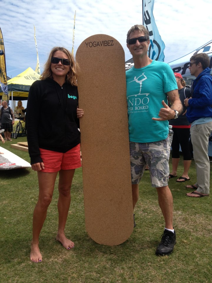 I had the pleasure of meeting Hunter, the Indo Board and Indo Yoga Board creator! He loved our corked version of the board thanks to Chris Willey.