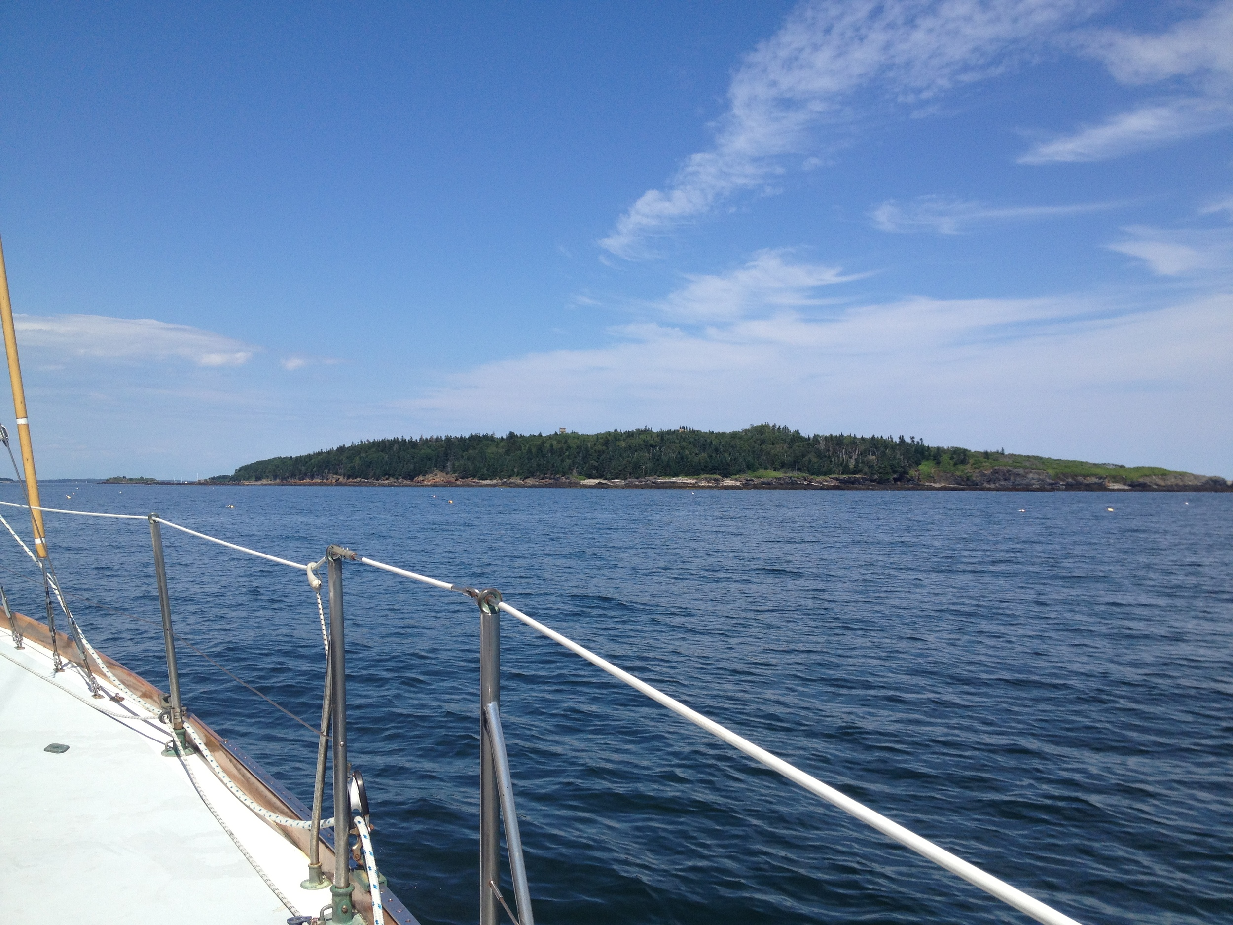 Approaching Jewell Island from the southwest.