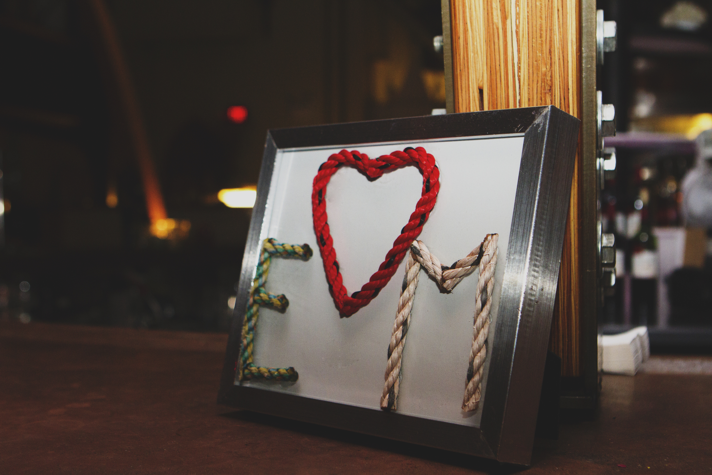 Recycled Rope Letters for Wedding
