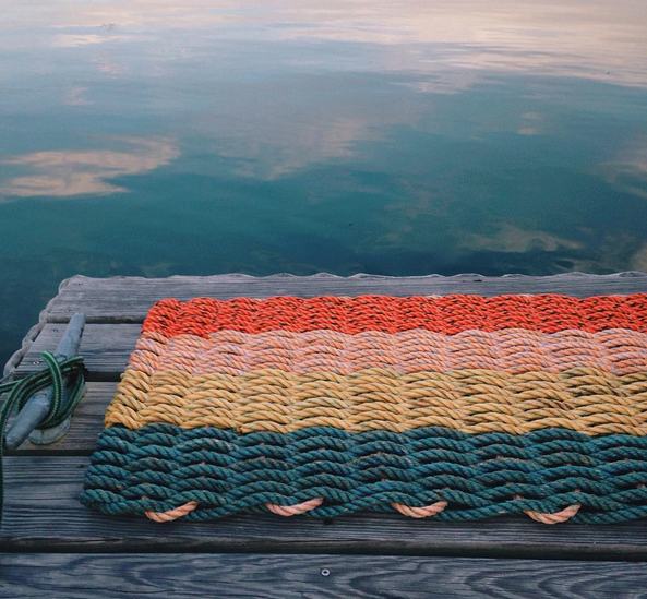 recycled lobster rope doormats by cape porpoise trading co