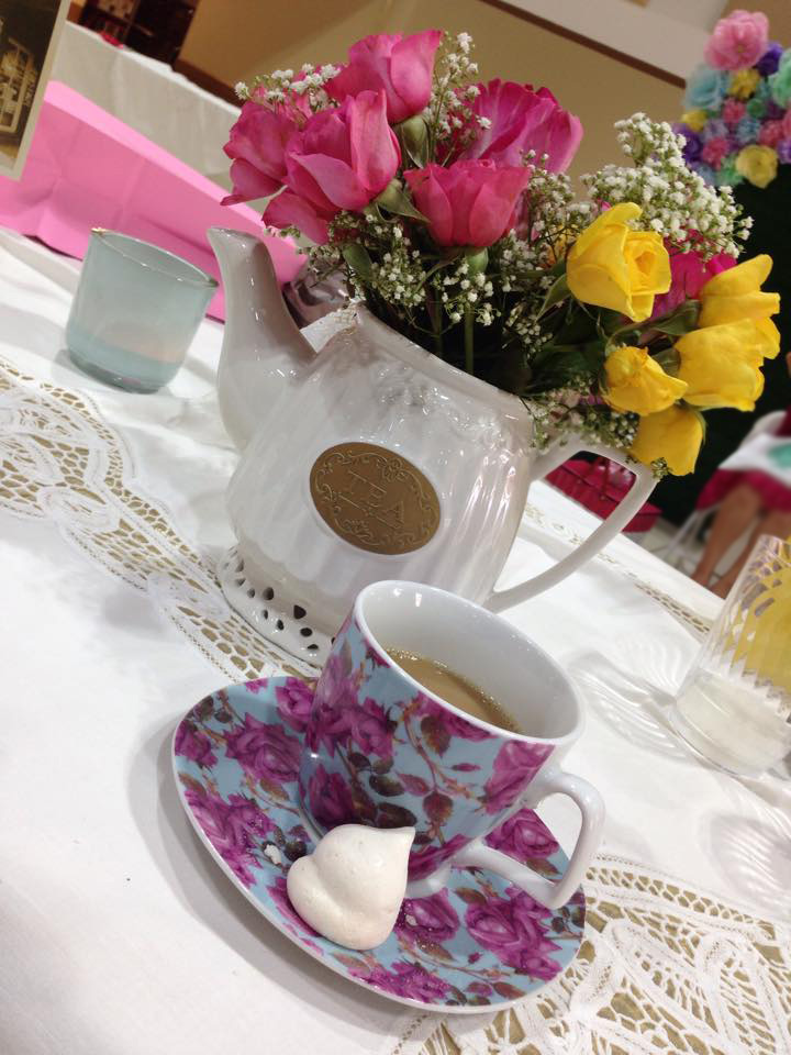 Modern Vintage Bridal Shower Travel Tea Party 11