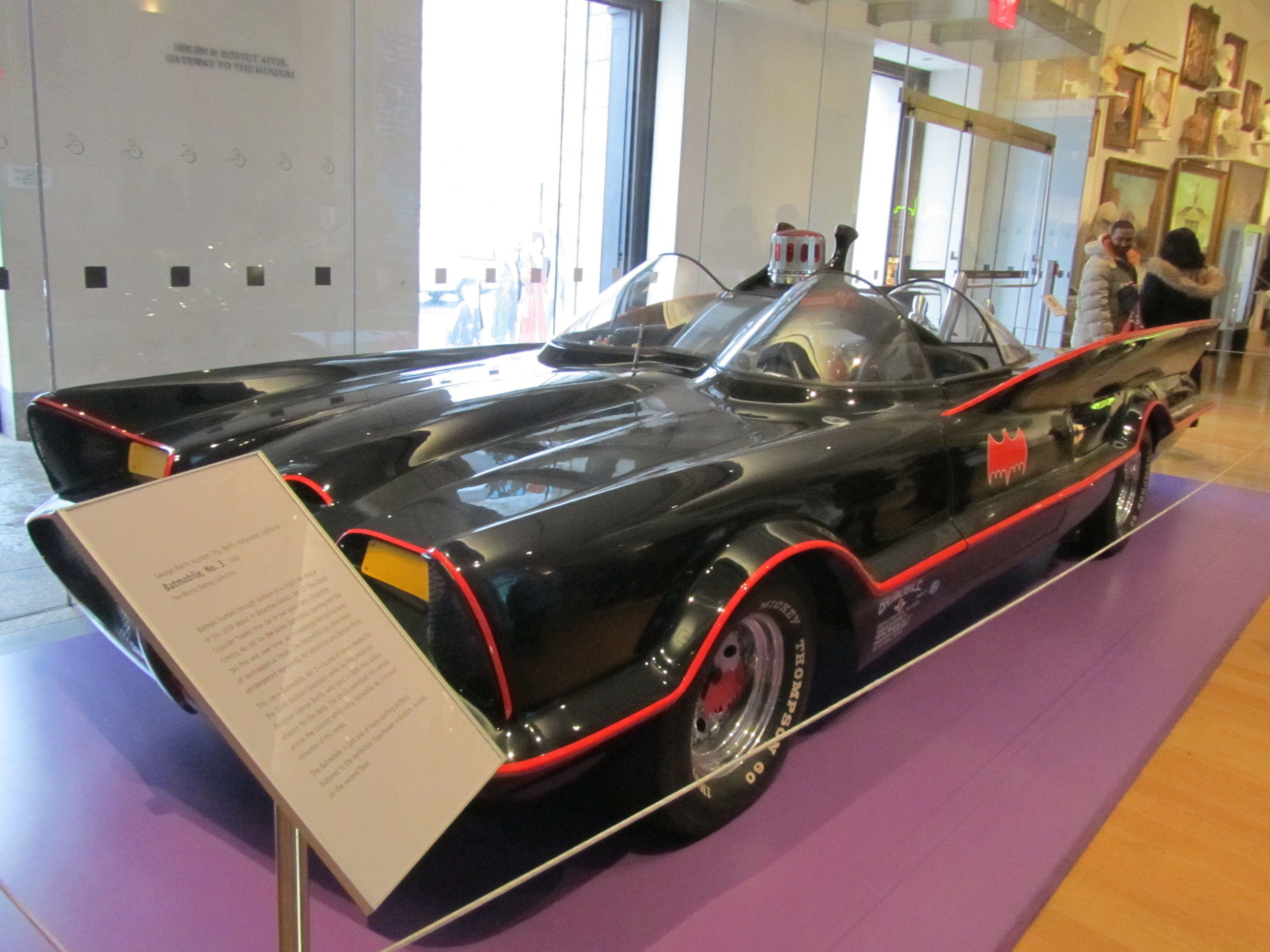 We got to see the original Batmobile and some of the props, costumes, and drawings from the beginning of the Comic (Illustrated Novel) Days at the New-York Historical Society.