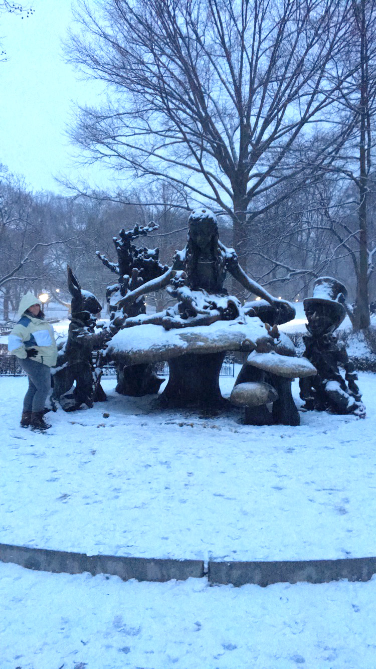 Had to make a pit stop and visit Alice in Central Park.
