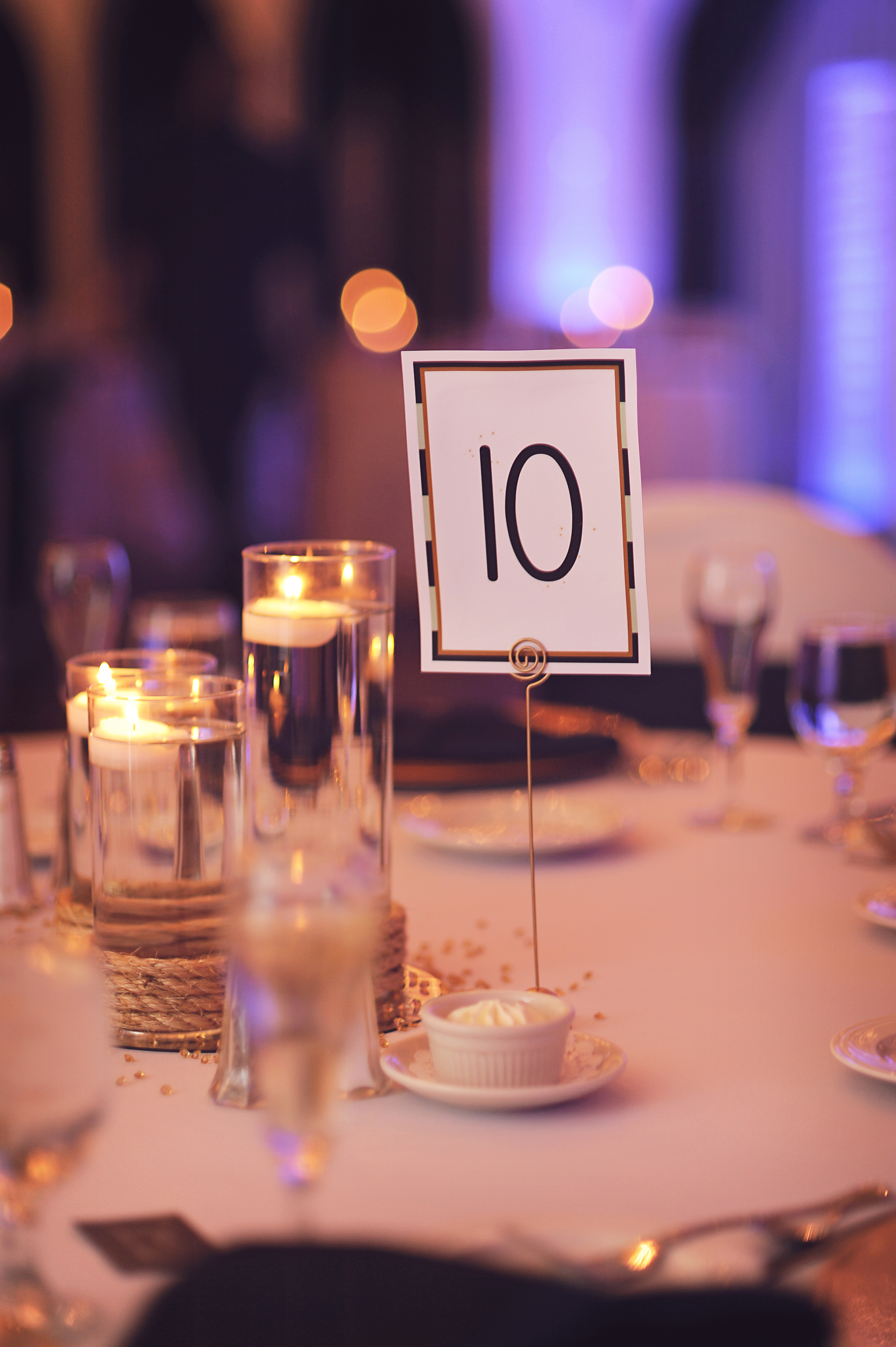 If you carefully notice, a little bit of pixie dust adorned each table number. :D