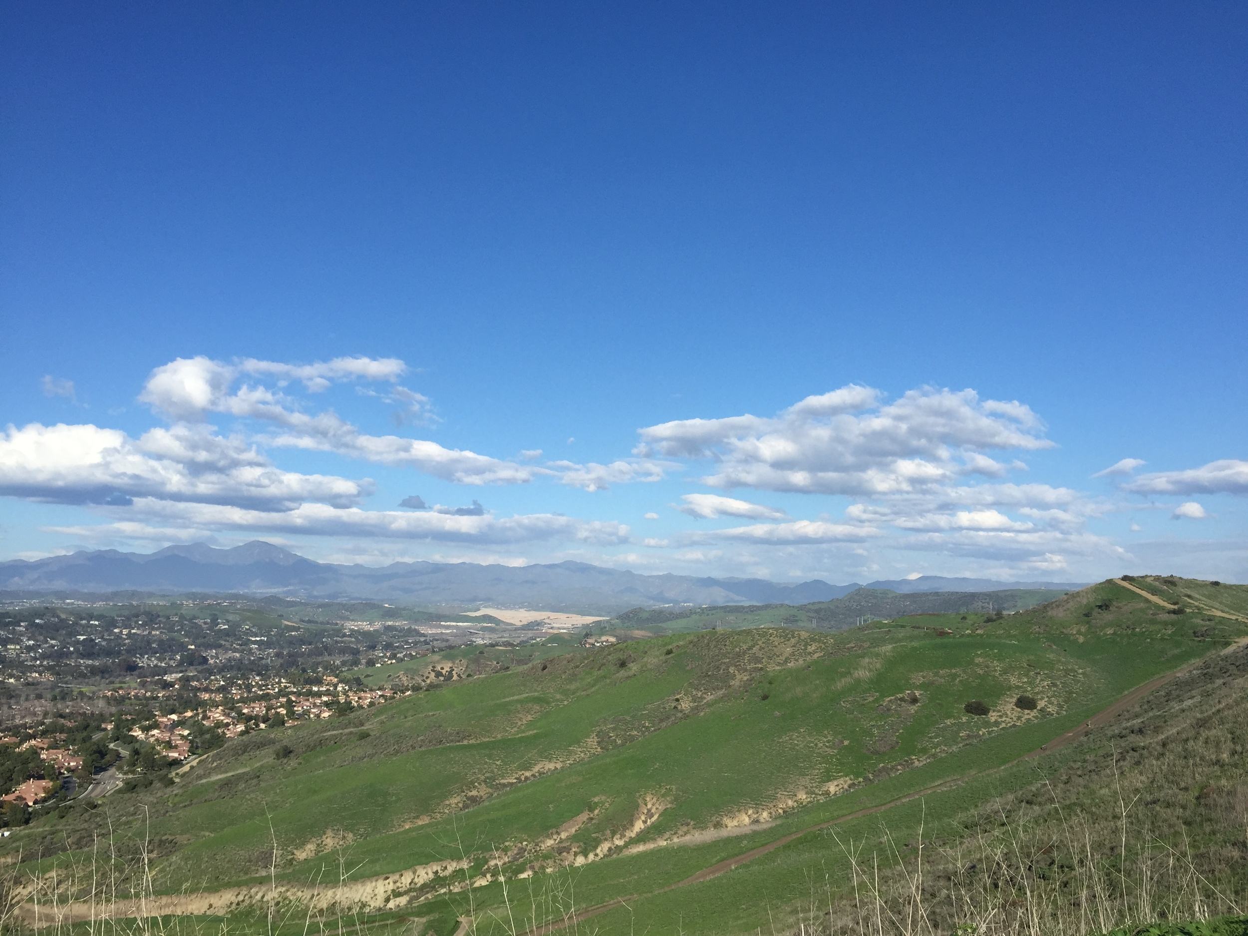View of San Juan Capistrano and Saddleback Mountain from the Top of the Hills