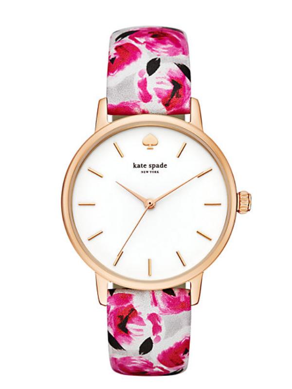 Rose Print Metro Watch - Kate Spade New York $195.00