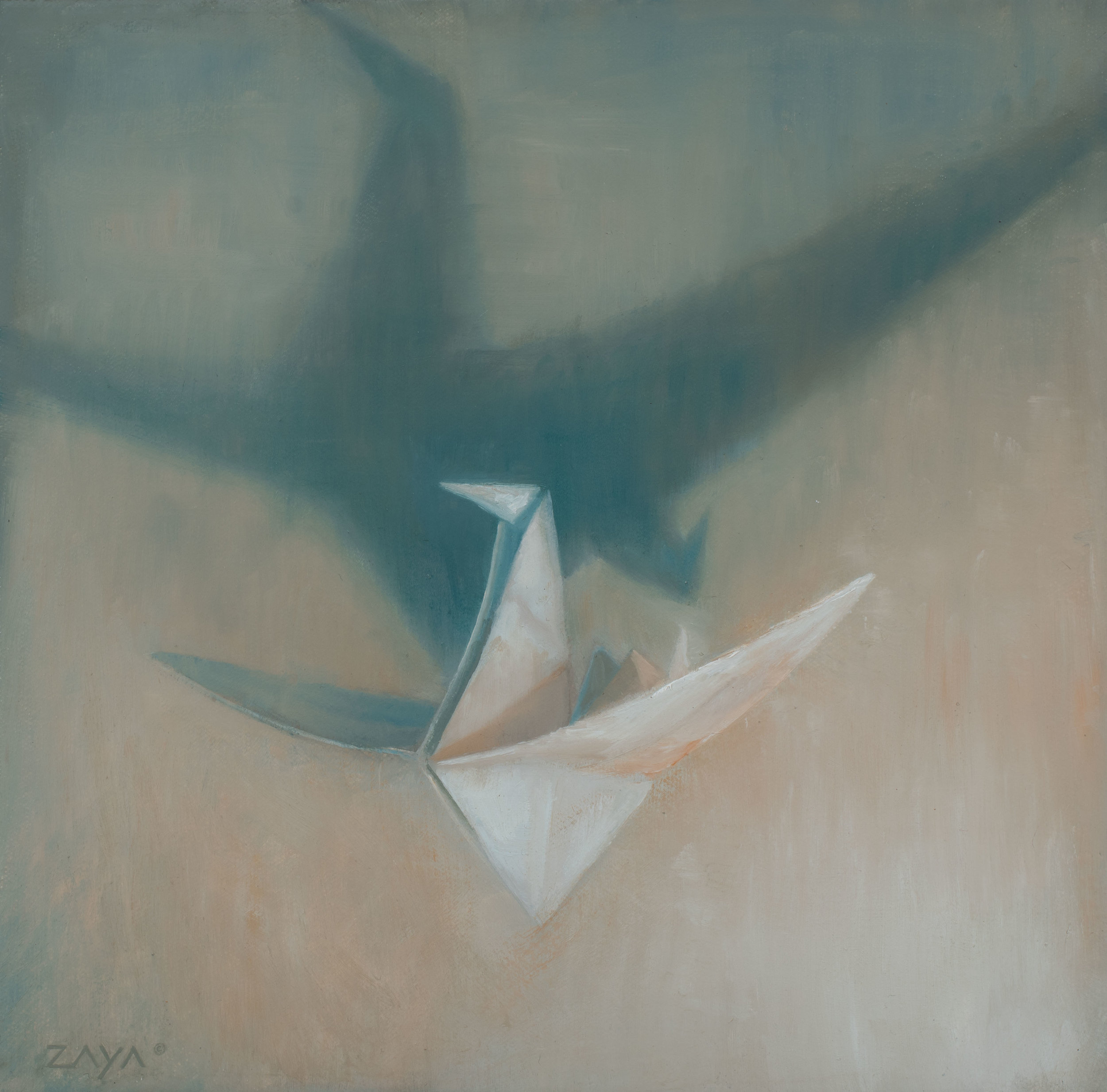 Paper Crane in Flight