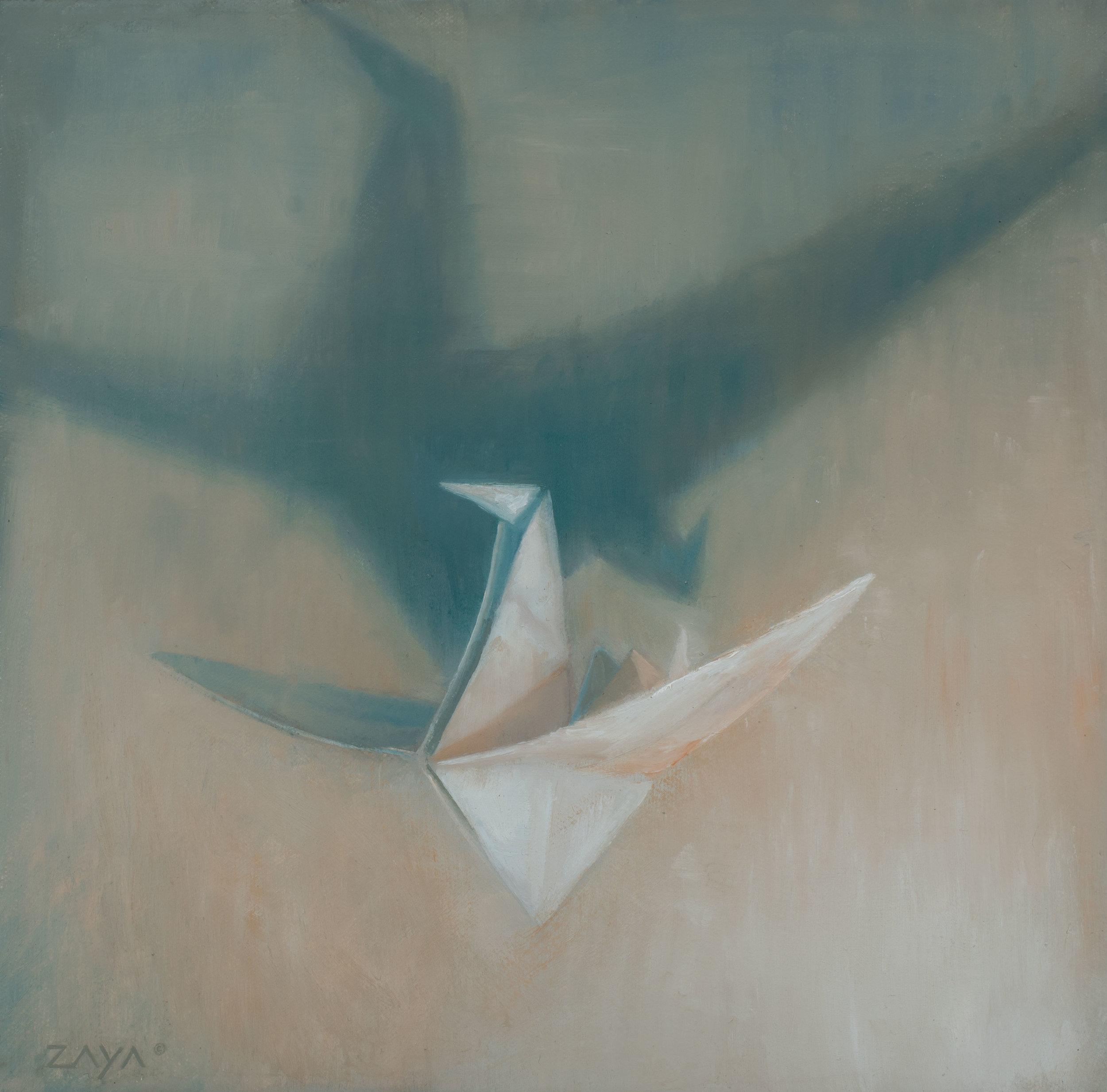 Paper Crane in Flight