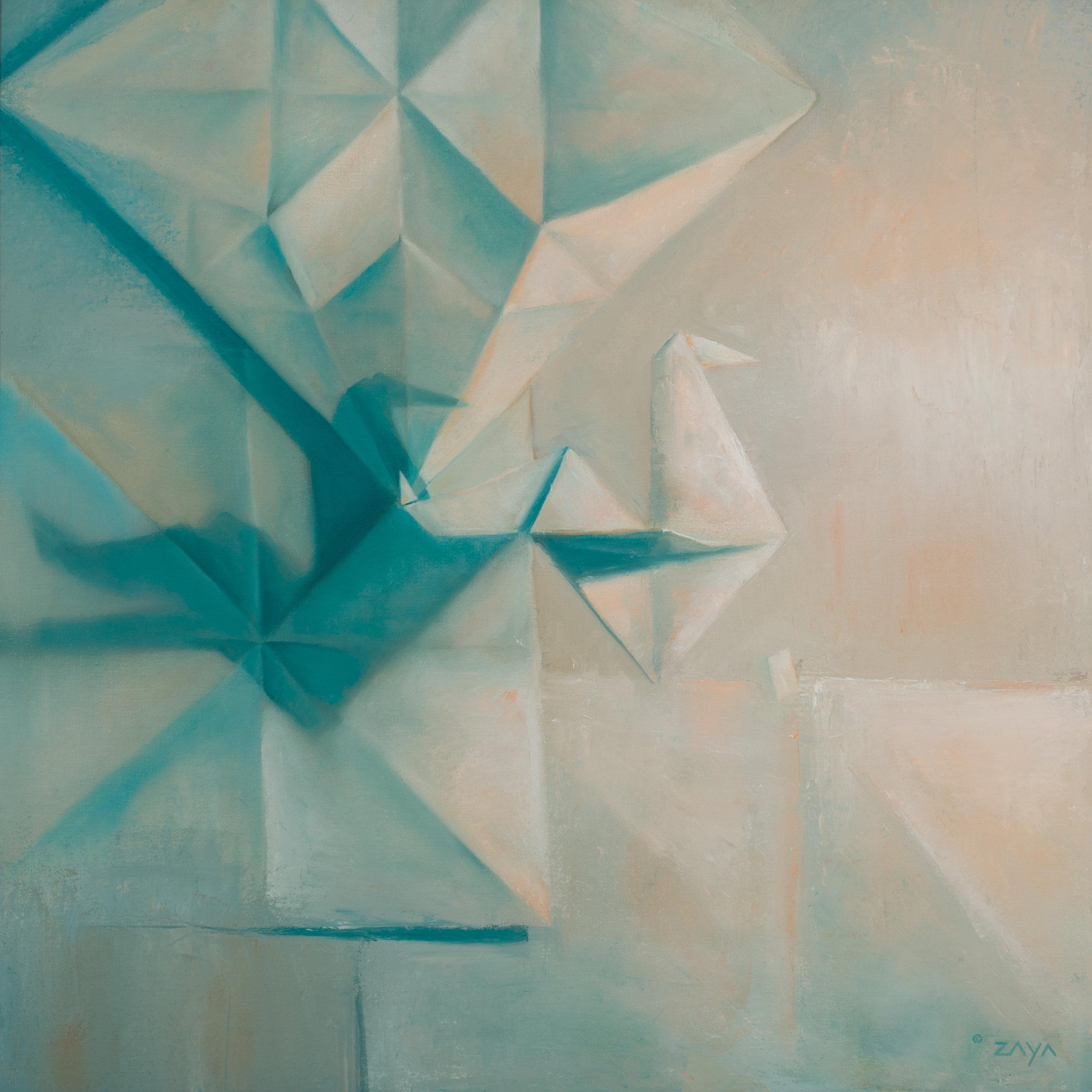 Blueprints in Palette Knife