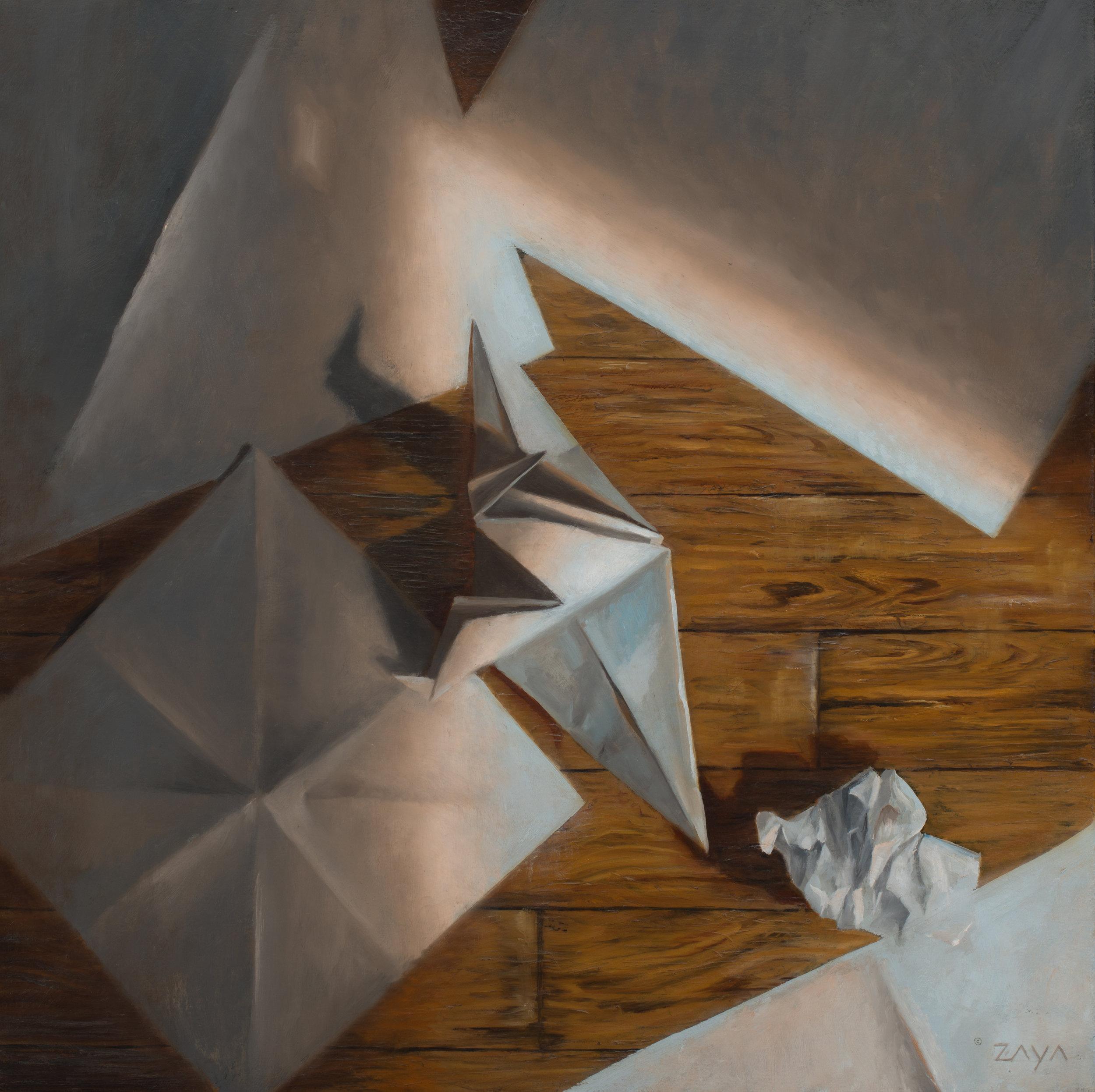 Paper Crane in Morning Light