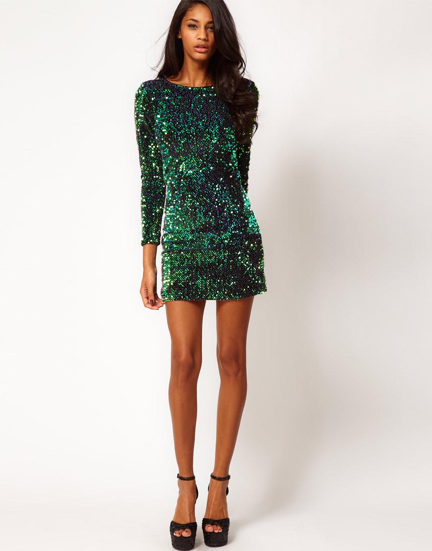 Motel Gabby Dress in Iridescent ($95 ASOS)