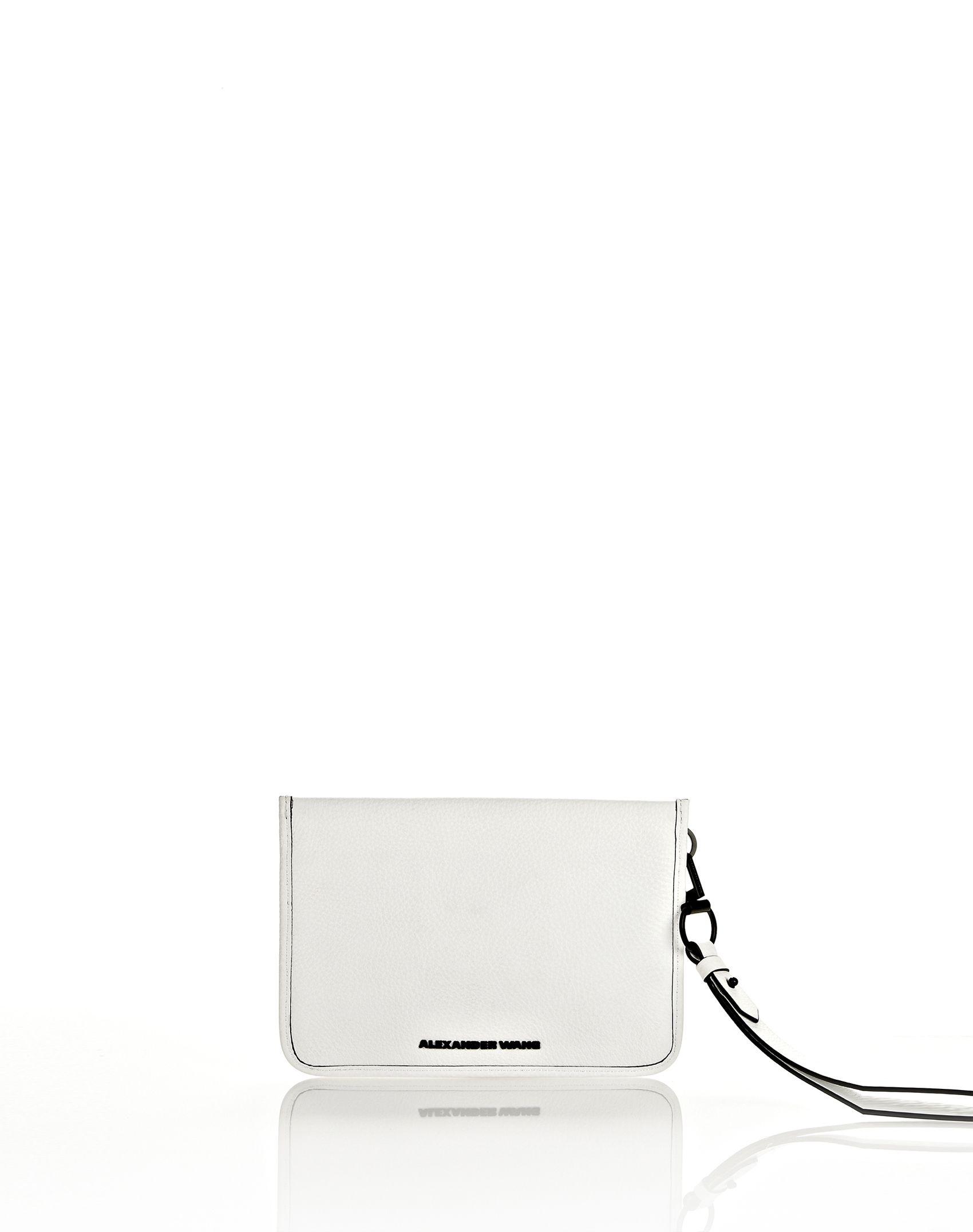 Alexander Wang Prisma Pochette Clutch in White with Matte Black ($260 Alexander Wang Shop)