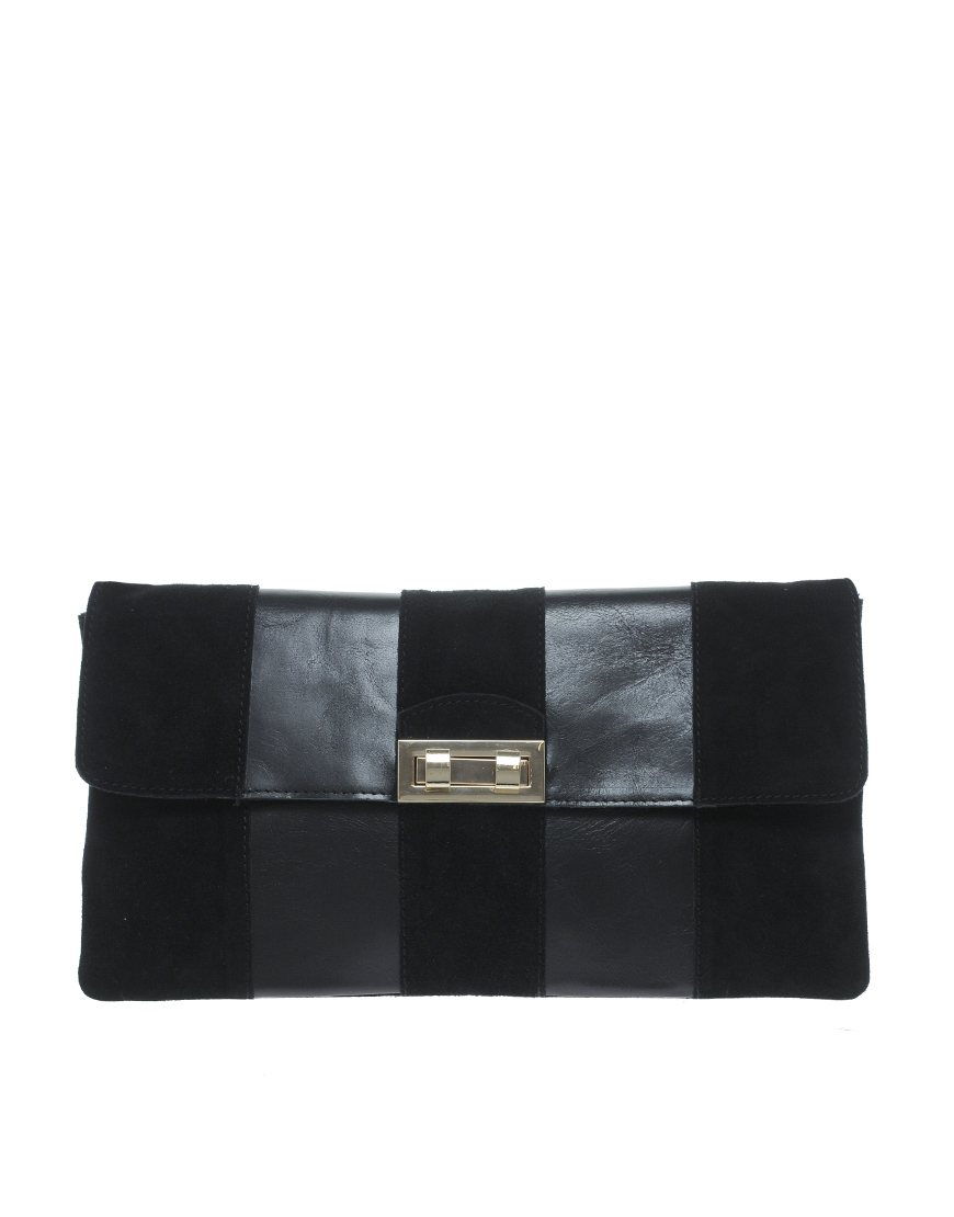 Leather Panelled Clutch Bag ($58 ASOS)