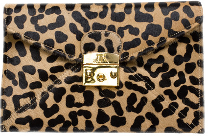 Rachael Ruddick Opera Leopard Clutch ($198 Another Love)