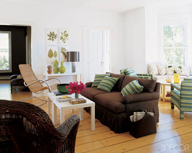 Actress Sarah Jessica Parker's Bridgehampton House   Sitting Room  (Image: elledecor.com)