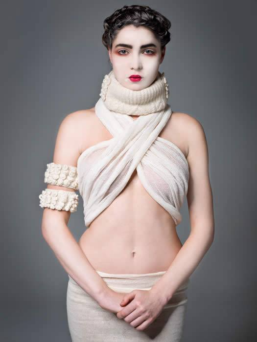 Woolmark 2013 International Designer Vishna Collins.  Hair & makeup by Bennetts.