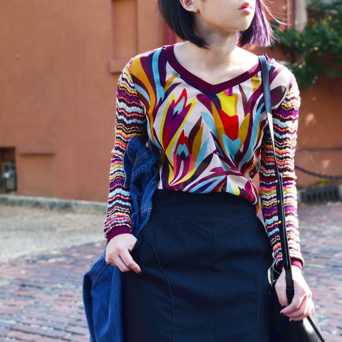 Purple hair and Missoni for Target Style top