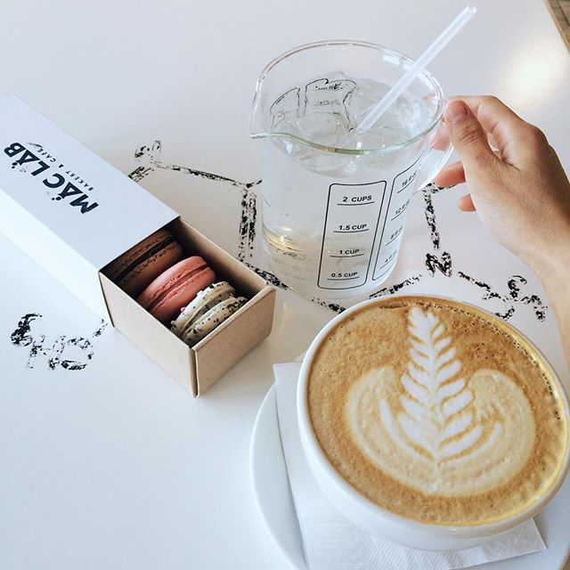 Bonding over coffee and our favorite macarons.