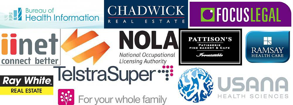 Just some of our loyal clients