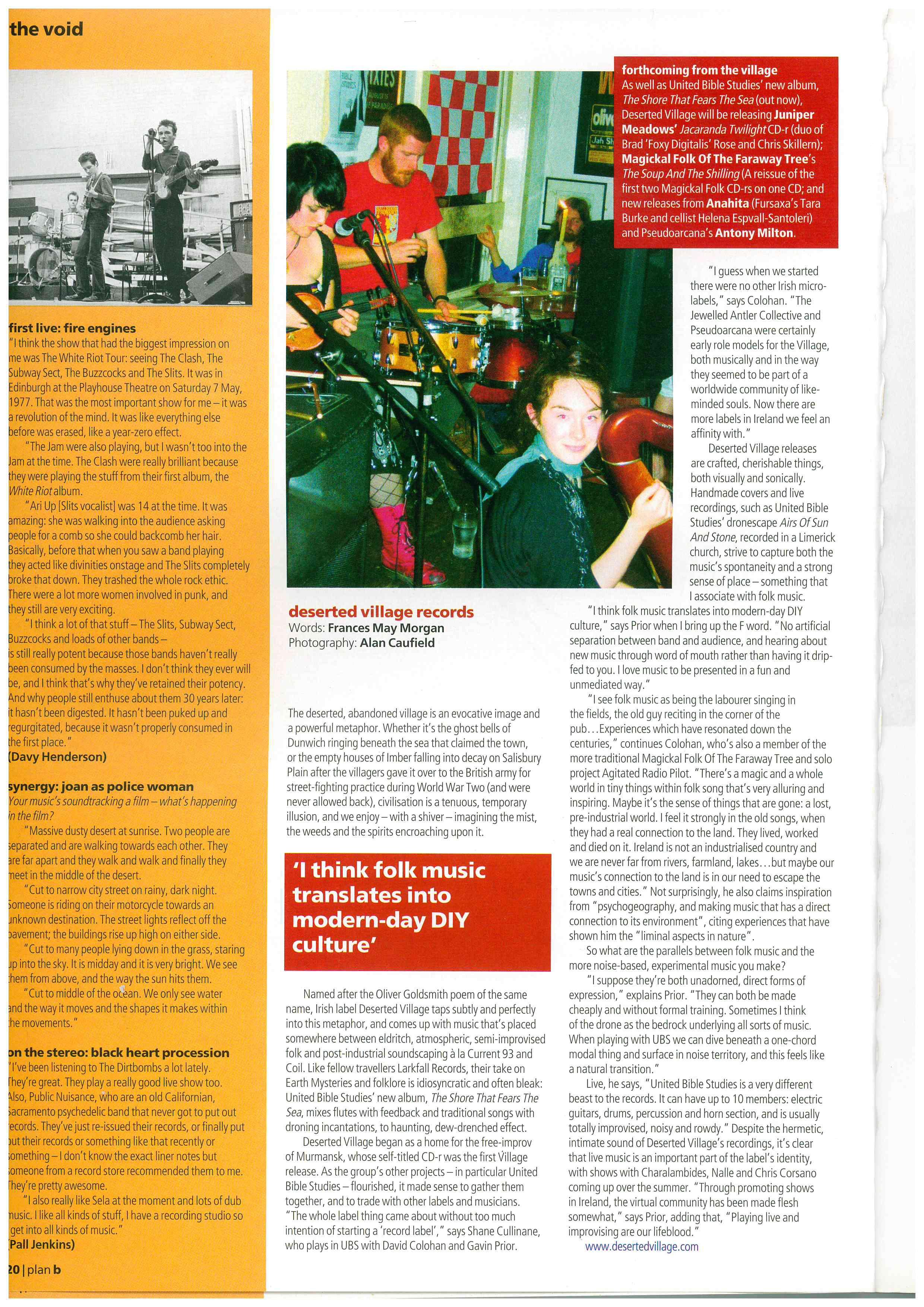 Plan B magazine  L-R: Vicky Langan, Bryan O'Connell, Áine O'Dwyer, 2005