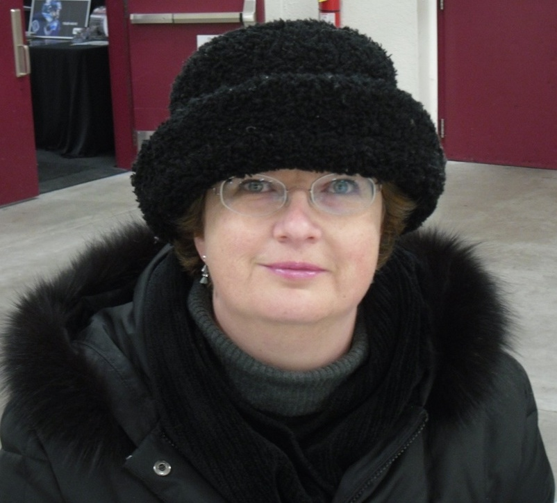 Lottie at the Sled Hockey
