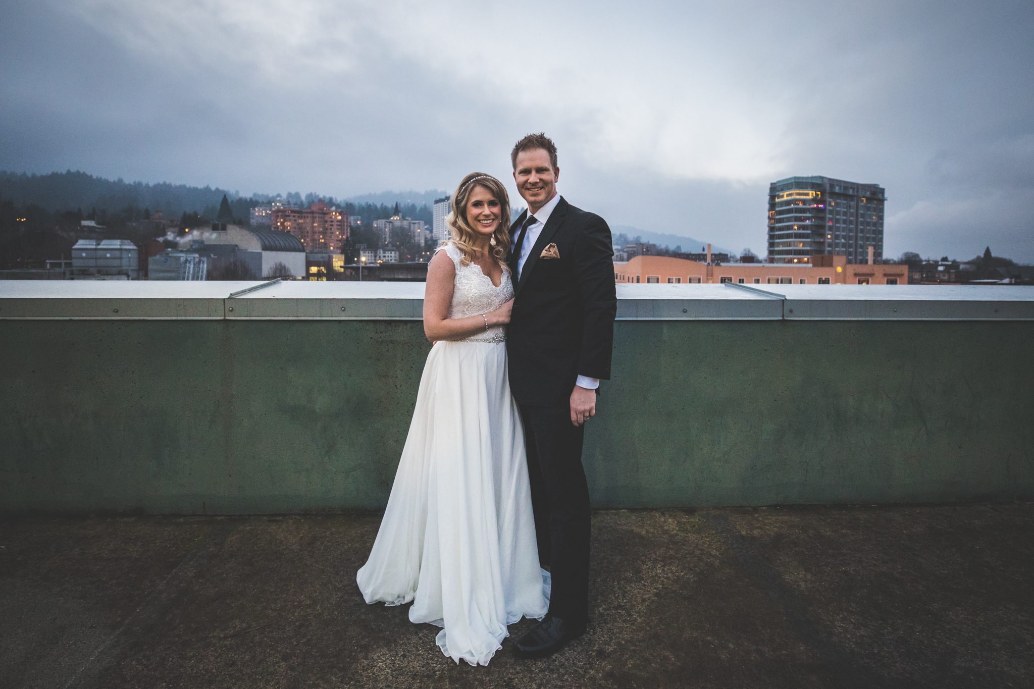 Megan and Steven - NYE Portland Wedding   A day long New Years Eve party at the Hotel Deluxe in Downtown Portland! Beautiful First Look by the antique elevators, freezing outdoor portraits (!) and so much dancing...