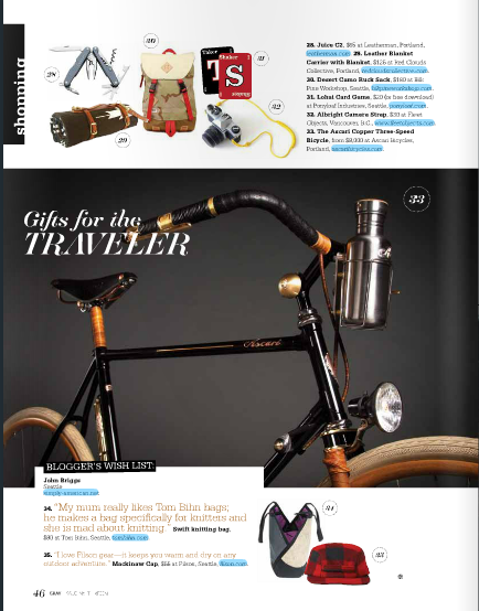 Gray Magazine Gifts for the Traveler - December 2013