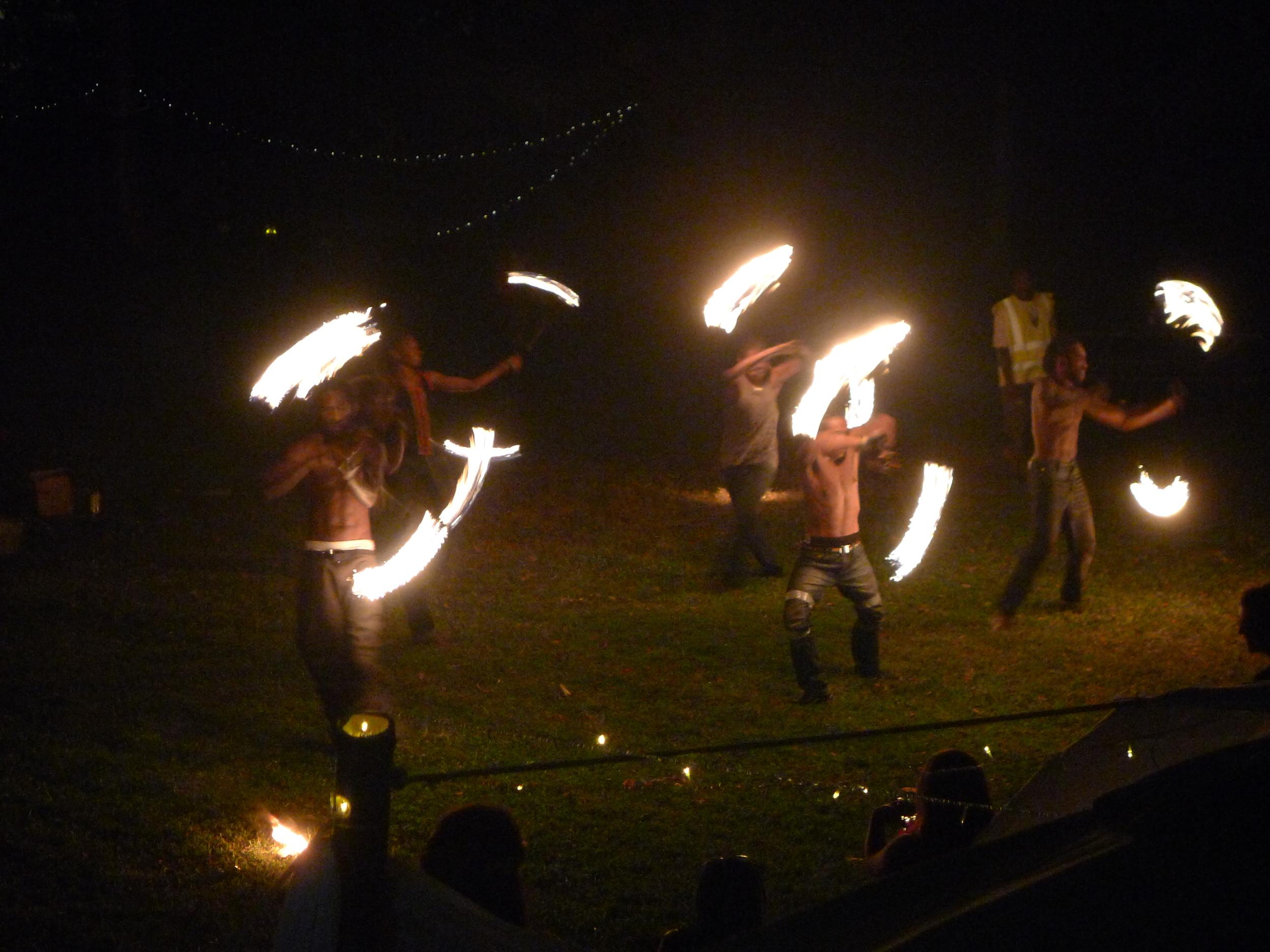 LOCAL FIRE DANCERS @ NANCY AND IVANS WEDDING
