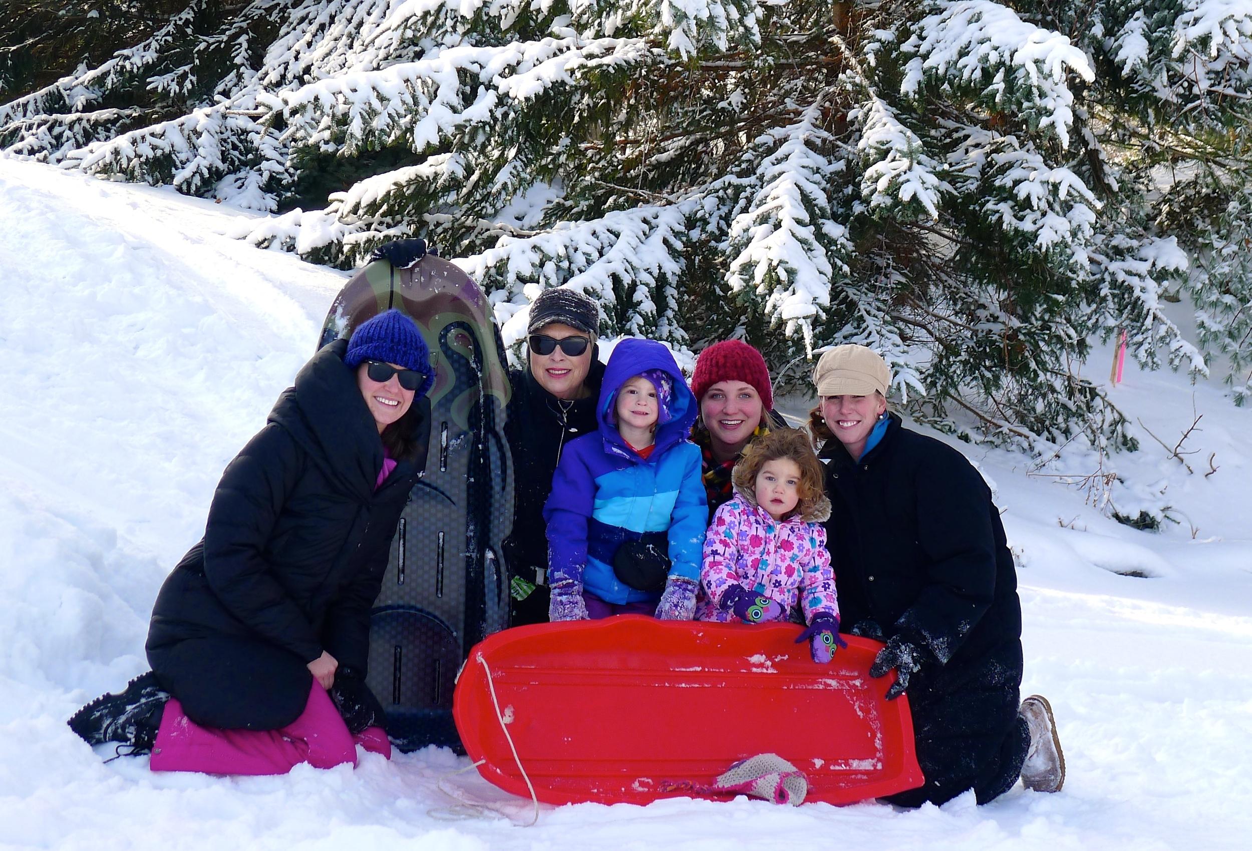 SNOW BUNNIES - ME, MARI, STEPH, JEN, EMMA, AND ZOE.