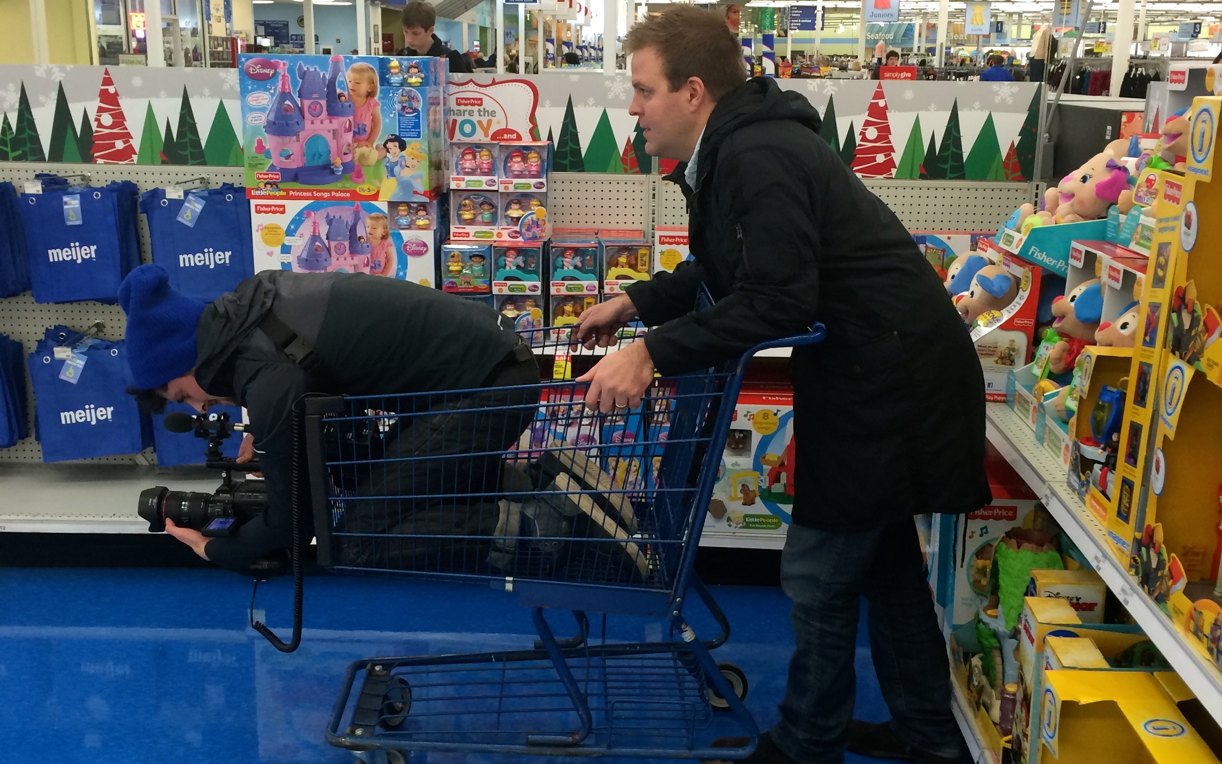 On set of I Like Being 98, Meijer.