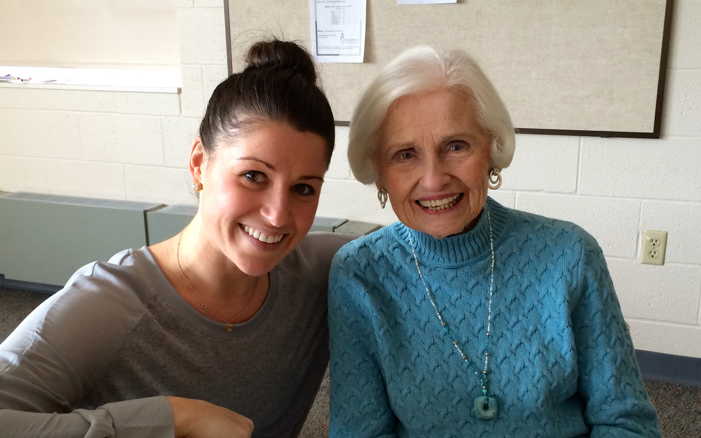 Evelyn and me on our last day of shooting I Like Being 98.